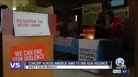 'Concert Across America' held in West Palm Beach, works to stop gun violence