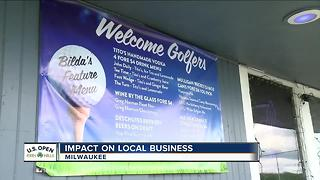Local businesses see small bump in business during U.S. Open - Video