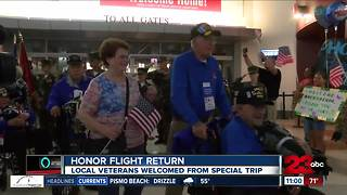 Honor Flight Kern County return - Video