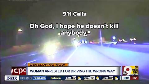 Woman accused of driving the wrong way on I-71