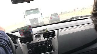 Driver Pranks Passenger, Makes Him Believe Car Is Going to Be Hit by a Truck - Video