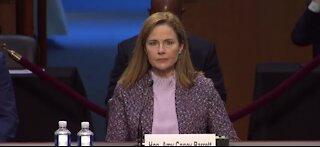 Judge Amy Coney Barrett being sworn in right now