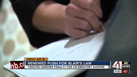 Renewed push for Blair's Law