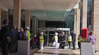 SOUTH AFRICA - Cape Town - Anti-coal protest at South African Annual Coal Conference (Video) (xtG)