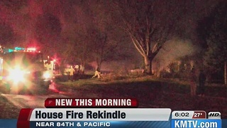 House fire rekindles overnight