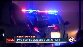 Two people stabbed on Indianapolis' northeast side - Video