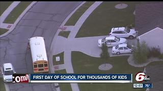 First day of school for thousands of kids in central Indiana - Video