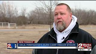 Trailer stolen from Oklahoma Firefighters Burn Camp - Video