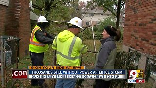 Thousands still without power after ice storm - Video