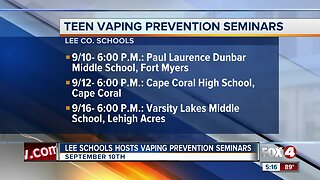 Lee County School District host vaping and tobacco seminar
