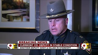 Update on one deputy who was shot during a deadly standoff in Clermont County