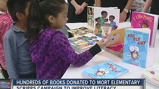 Hundreds of books donated to Mort Elementary - Video
