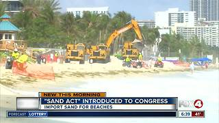 Bill introduced to stop Florida beaches from running out of sand - Video