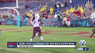 Cheribundi Tart Cherry Boca Raton Bowl date announced - Video