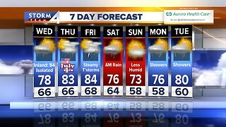 Cloudy, humid and warm Wednesday
