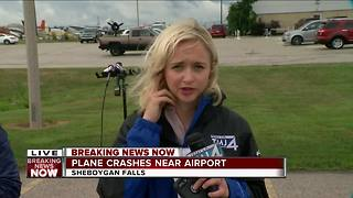 Plane crashes near airport in Sheboygan Falls - Video
