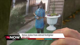 Retired Milwaukee firefighter has fireman statue stolen - Video