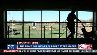 School support staff speak about their raise - Video