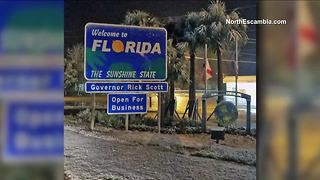North Florida hit with light snow - Video