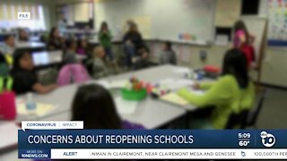 Concerns about reopening schools