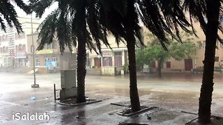 Street Flooding on South Coast of Oman as Cyclone Approaches