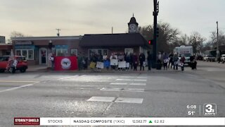 Funeral procession for Frank Kumor