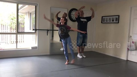 The new Billy Elliot? Boy and his dad learn to ballet dance together