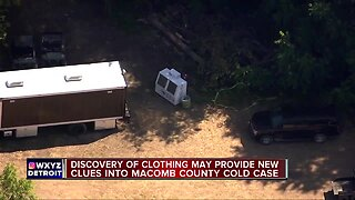 Police find articles resembling clothing during Macomb Twp. dig in decades-long cold case