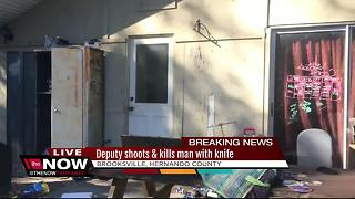 Man shot, killed by deputy after stabbing dog - Video