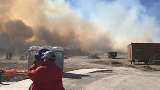 Texas Grass Fire Forces School, Home Evacuations - Video