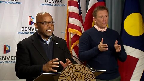 Denver Mayor Michael Hancock addresses homelessness during news conference on the city's response to coronavirus pandemic