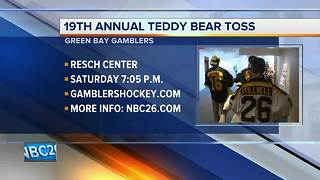 19th annual teddy bear toss - Video