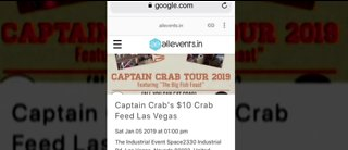 People buy tickets for fake crab festival