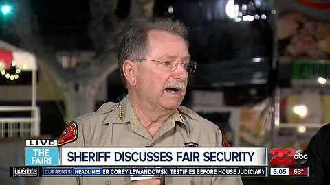 Sheriff Donny Youngblood talks safety at the Kern County Fair