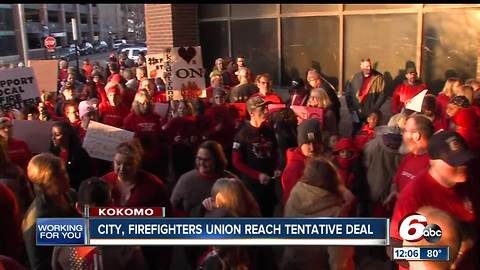 Kokomo, firefighters deal reached