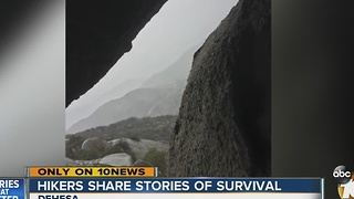 Hikers share stories of survival - Video