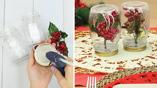 Easy Christmas Décor with Mason Jars - Video