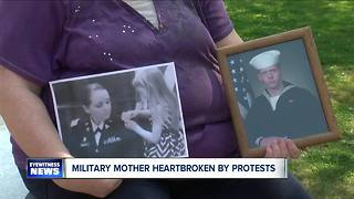 Erie County miilitary mom heartbroken over NFL protests - Video