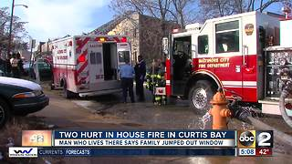 2 people injured in Curtis Bay fire Monday - Video