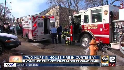 2 people injured in Curtis Bay fire Monday