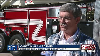 Longtime Tulsa Fire Department captain retires