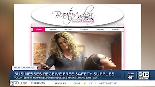 Businesses receive free safety supplies