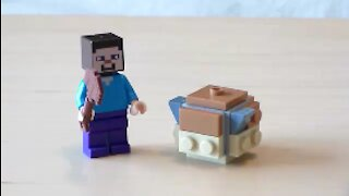 Lego Minecraft Pufferfish Tutorial