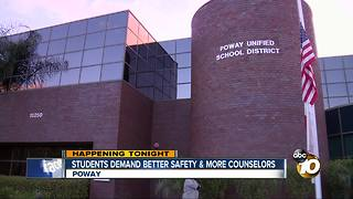 Students demand better safety, more counselors - Video
