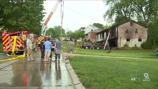Neighbors: Thunder, lightning struck just before home caught fire