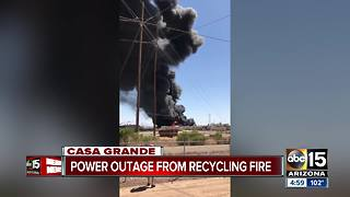 Crews battling 'massive' commercial fire in Casa Grande - Video