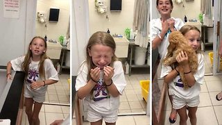 Little Girl Tears Up After Realizing She Has A New Puppy Sister