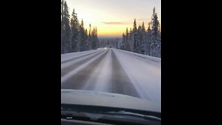 Early Afternoon Sunset Gives The Perfect Backdrop For Road Trip - Video