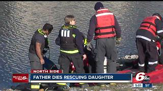 Father dies rescuing 3-year-old from retention pond after car plunges into water - Video