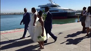 SOUTH AFRICA - Cape Town - Eleven couples tied the knot on Robben Island (Video) (STL)